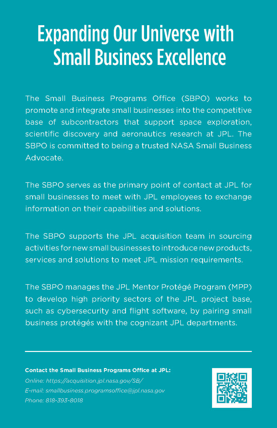 Small Business Program Office Flyer.